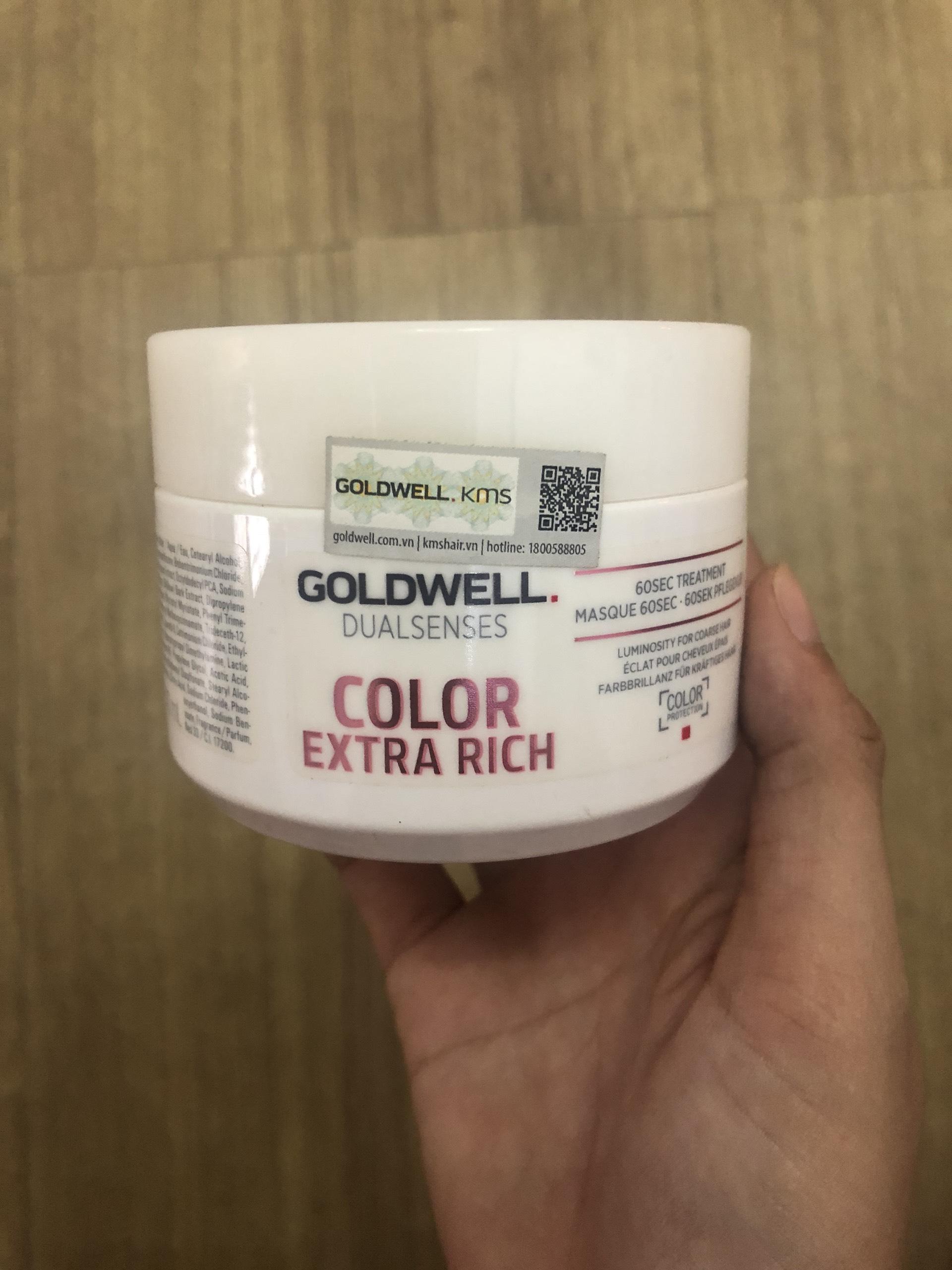 Hấp dưỡng màu tóc nhuộm Goldwell 60s 200ml