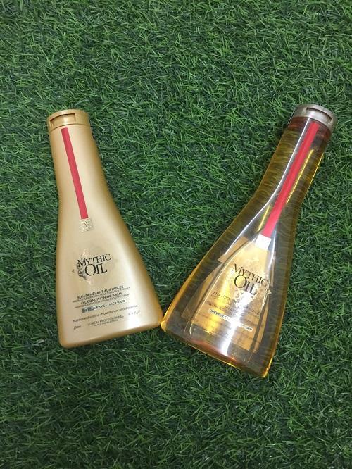 Bộ gội xả dưỡng và chăm sóc tóc hoàn hảo Loreal Mythic Oil 250ml