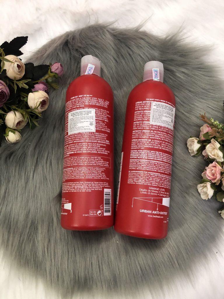 Bộ gội xả phục hồi tái tạo tóc số 3 bed head Tigi 750ml