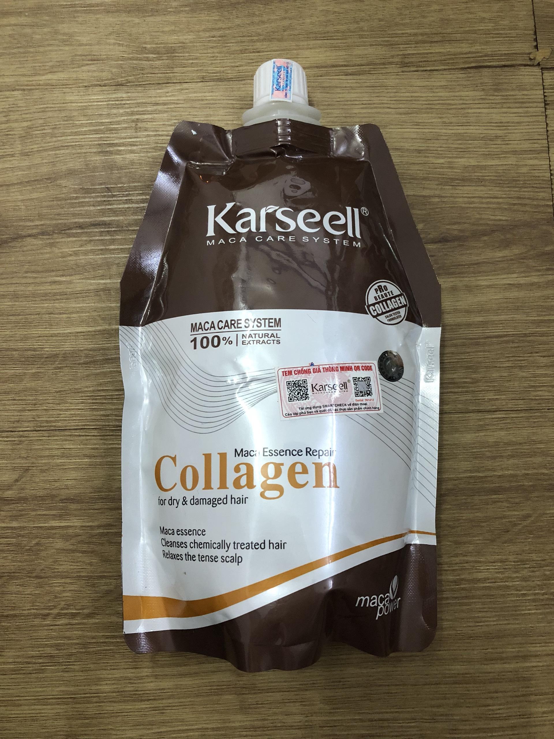 Phân biệt ủ tóc collagen karseell thật giả như thế nào ?