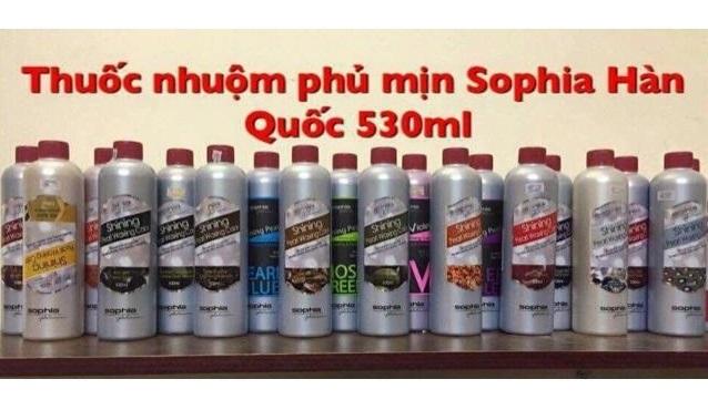 thuoc nhuom phu bong Sophia Platinum Shining Pearl Waxing Color 530ml